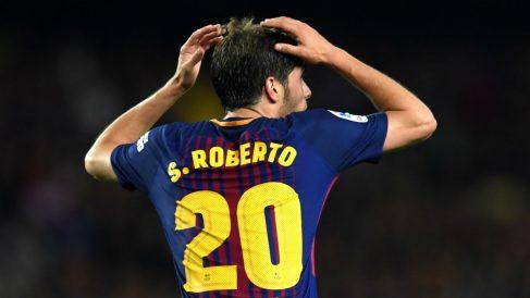 Sergi Roberto se quejó en Twitter de su no inclusión entre los 23 de Lopetegui (Getty).