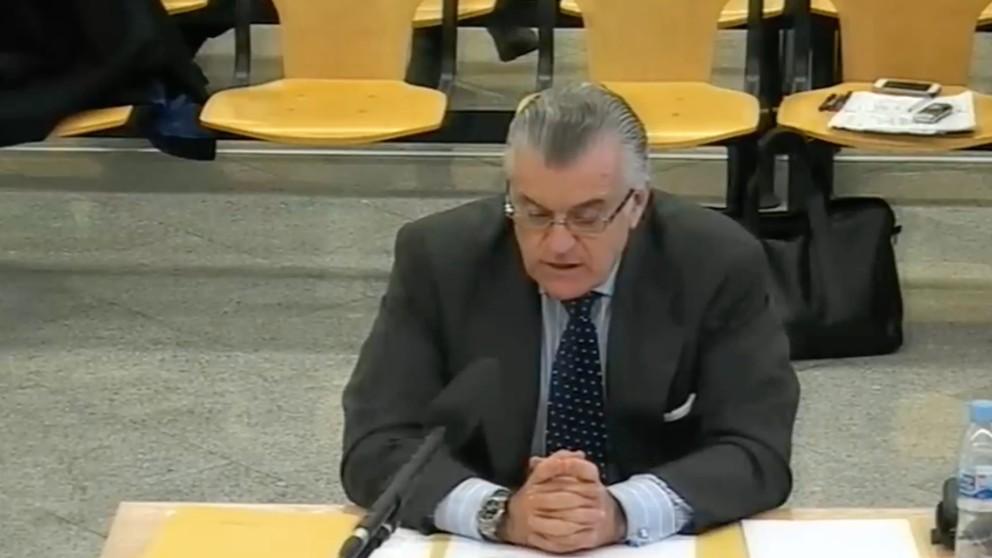 Luis Bárcenas prestando declaración en el juicio del caso Gürtel