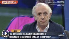 Eduardo Inda dejó claro que el Barça quiere contraprogramar la posible Champions del Madrid.