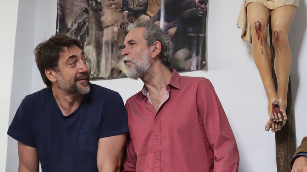 Javier Bardem y Willy Toledo. (Foto: EFE)
