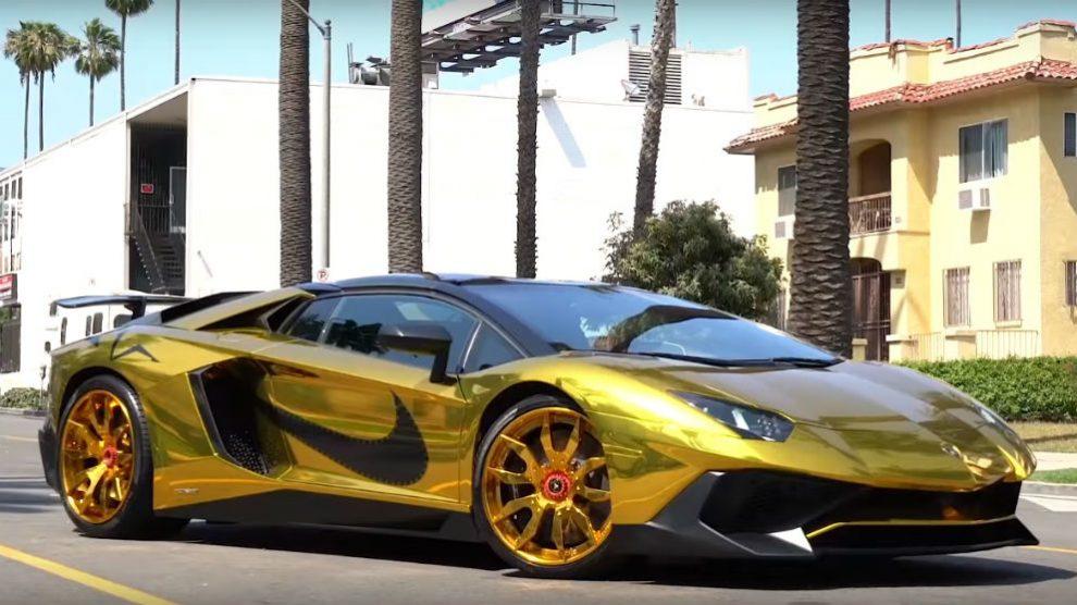 Chris Brown ha adquirido un Lamborghini Aventador SV Roadster que no tiene nada de discreto.