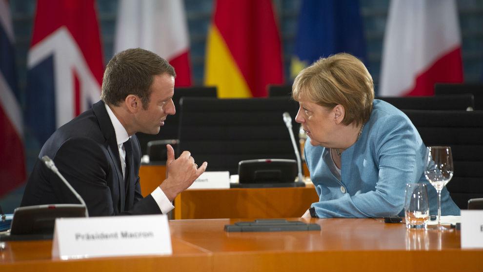 Macron y Merkel (Foto: GETTY).