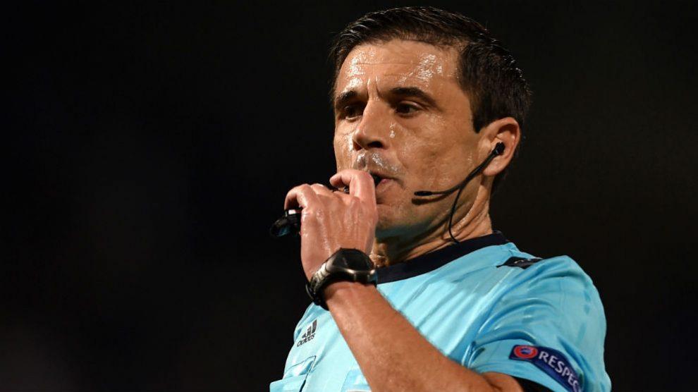 Milorad Mazic, árbitro de la final de la Champions. (AFP)