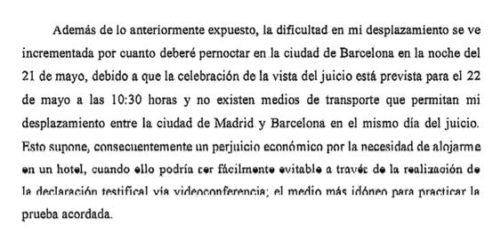 Saracho deja colgado al juez de Barcelona y se expone a una multa de hasta 600 euros