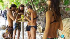 Sofía mira atentamente el desayuno de sus compañeros en 'Supervivientes'
