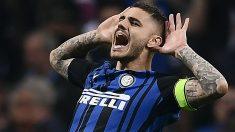 Icardi celebra uno de sus goles con el Inter. (AFP)