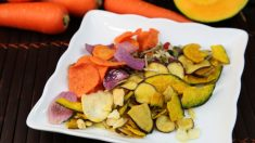 Recetas de Chips de verduras al horno fáciles de preparar