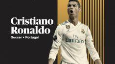 Cristiano Ronaldo en la publicación de ESPN. (ESPN)