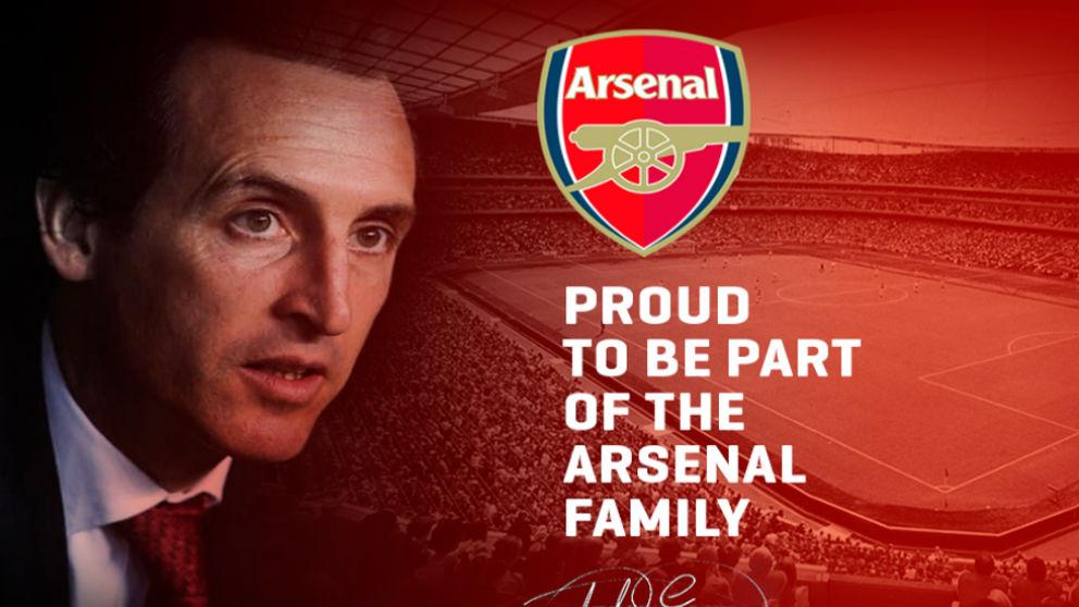 Emery, nuevo entrenador del Arsenal.