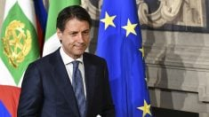 El primer ministro italiano, Giuseppe Conte, en el Palacio del Quirinale (AFP).