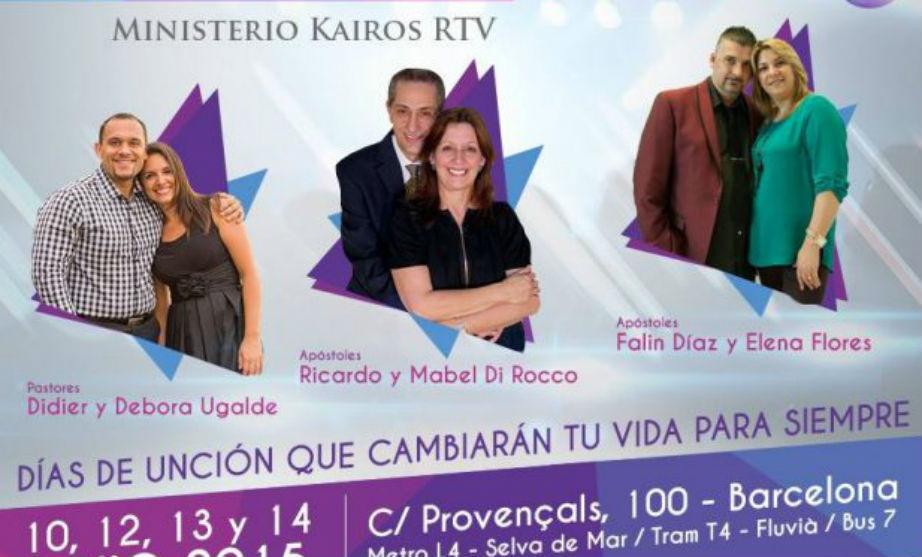 Los «apóstoles» de la Misión Kairos de Barcelona se anuncian como estrellas de la televisión.