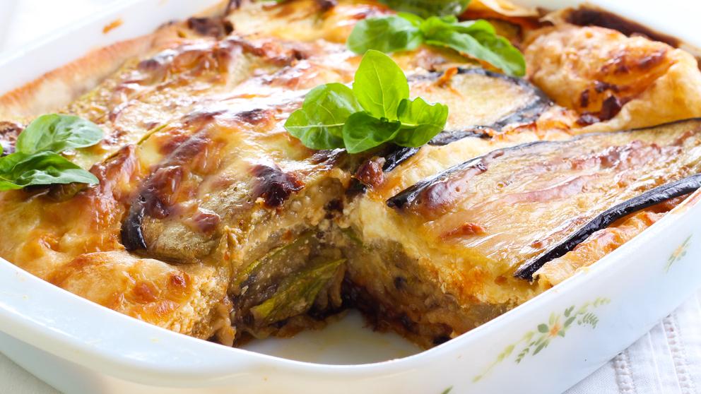 Receta de lasaña de soja texturizada, calabacín y zanahoria