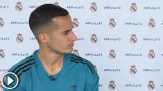 Lucas Vázquez habló a OKDIARIO de la situación de Morata. (vídeo: Enrique Falcón)