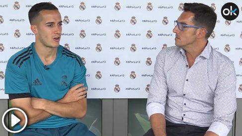 Lucas habla de Piqué en la entreista a OKDIARIO. (vídeo: Enrique Falcón)