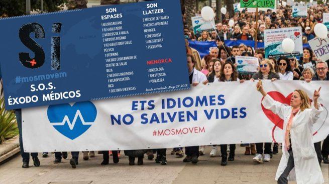 Los médicos abandonan Baleares por la imposición del catalán por el gobierno PSIB-Mès-Podemos