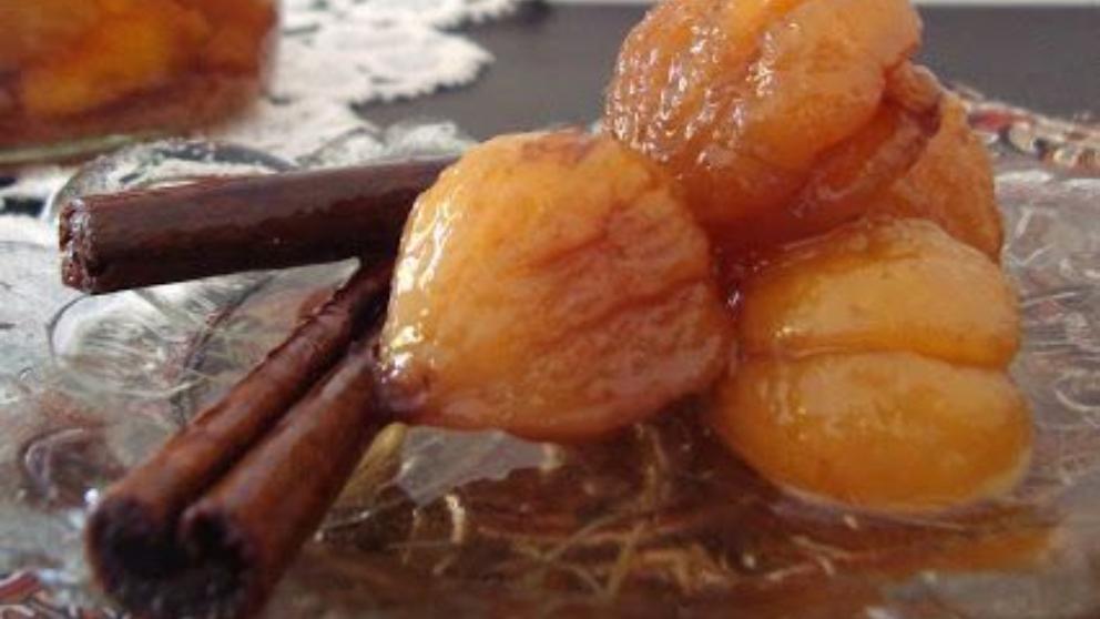 Receta de castañas en almíbar