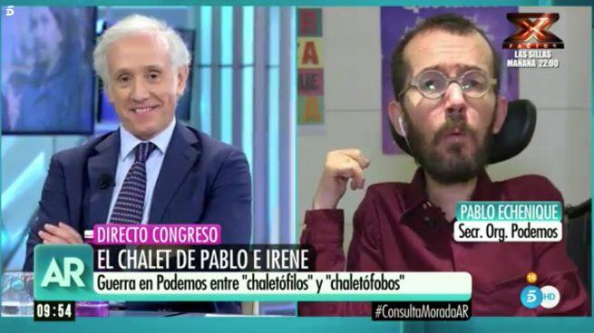 Eduardo Inda y Pablo Echenique
