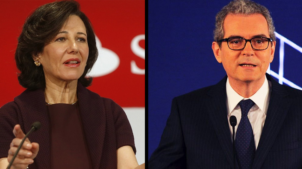 La presidenta del Santander, Ana Botín, y el CEO de Inditex, Pablo Isla.