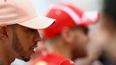 Lewis Hamilton no se ha cortado a la hora de asegurar que no puede fichar por Ferrari porque Sebastian Vettel le tiene vetado como compañero de equipo. (Getty)