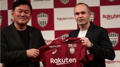 Iniesta llevará el dorsal 8 en el Vissel Kobe. (AFP)