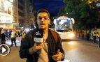 Lío entre aficionados a la llegada del Real Madrid a su hotel