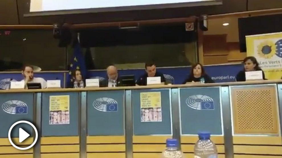 Acto en el Parlamento Europeo.