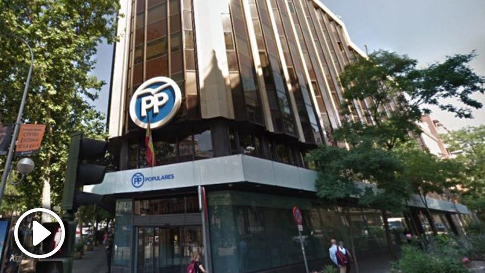 ppSede del PP en calle Génova 13. (Foto. GM)