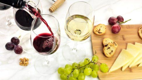 Tanto el vino blanco como el vino tinto destacan por sus propiedades nutricionales.