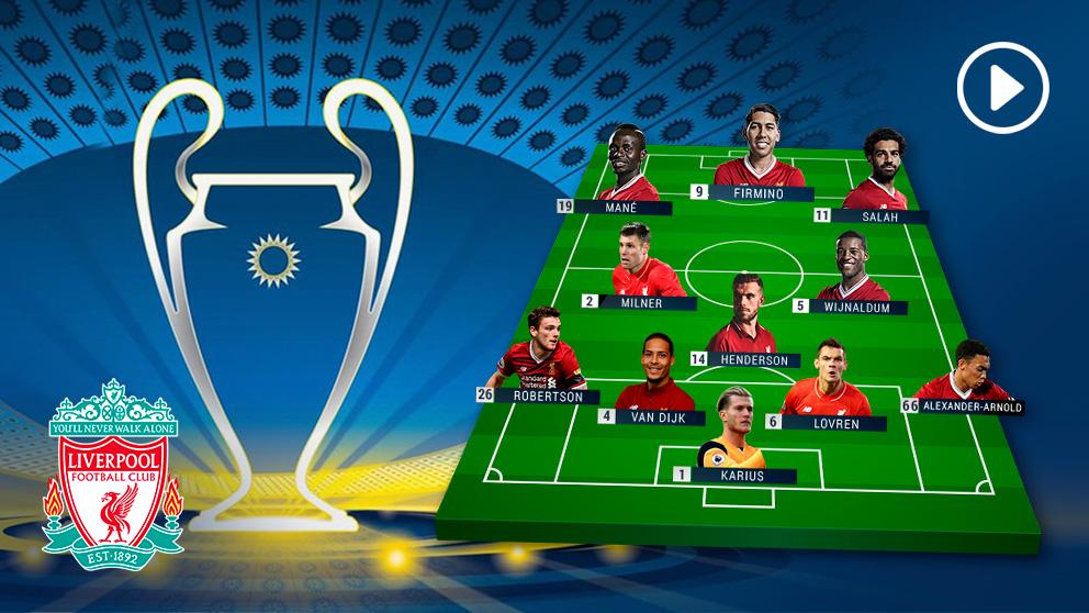 Posible alineación del Liverpool en la final de la Champions League contra el Real Madrid.