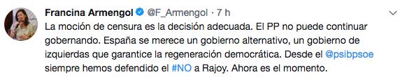 Críticas a la precipitación de Sánchez: el apoyo del PSOE a su moción de censura no es