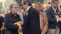 Carles Sastre (izquierda), junto al presidente del Govern, Quim Torra