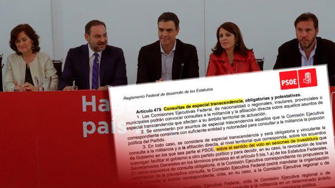 Sánchez se salta sus propios estatutos del PSOE y presenta la moción sin preguntar a las bases