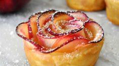 Receta de rosas de manzana asada: un postre sano y elegante