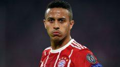 Thiago Alcántara, en un partido con el Bayern. (AFP)