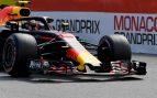 Verstappen, rodando en los entrenamientos del GP de Mónaco de Fórmula 1 (AFP).