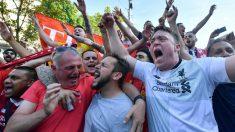 Aficionados del Liverpool en Kiev. (AFP) | Final Champions hoy | Real Madrid – Liverpool