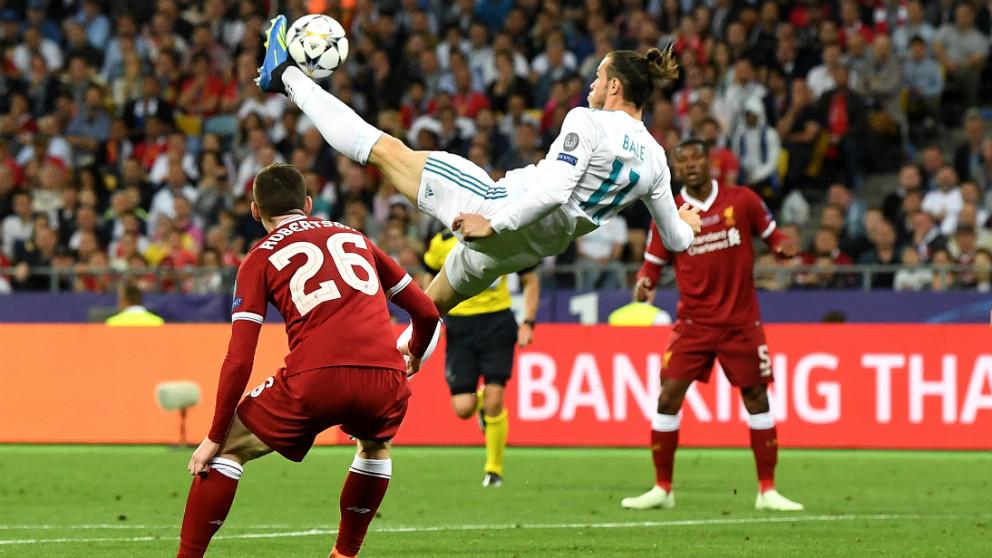 El golazo de Bale en la final de Champions League ante el Liverpool. (Getty)