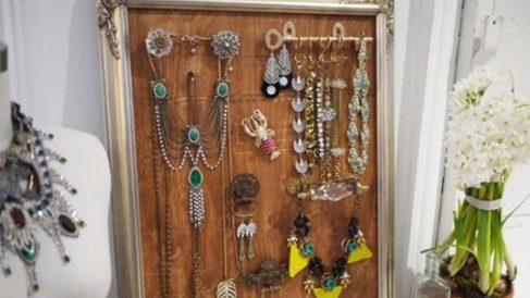 Pasos para hacer una colgador de joyas para pared