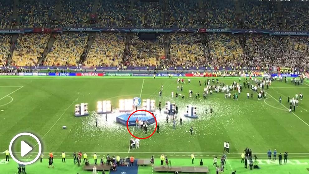 La celebración más solitaria de Cristiano Ronaldo.