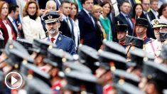 Felipe VI en el Desfile de las Fuerzas Armadas en Logroño. (Foto: EFE)