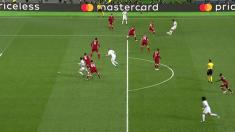 Cristiano Ronaldo partió en posición de fuera de juego en el gol anulado a Benzema.