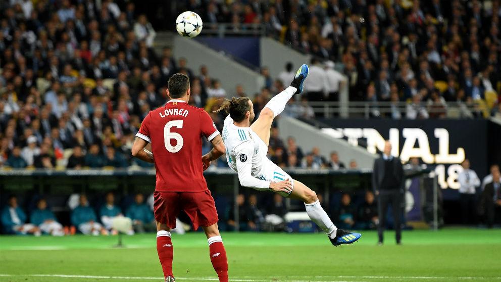 Gareth Bale anotó un golazo de chilena. (Getty)