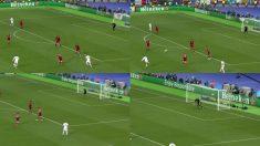 Karius volvió a cantar en el segundo gol de Gareth Bale en la final de la Champions League.