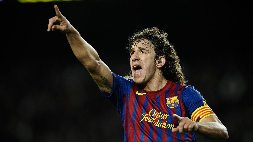 Carles Puyol, durante un partido con el Barcelona. (Getty)