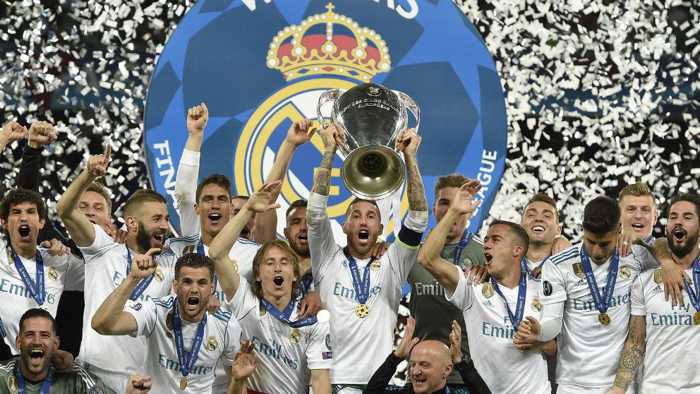 Sergio Ramos levantó la Champions League número 13 de la historia del Real Madrid. (AFP)