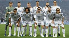 Once inicial del Real Madrid ante el Liverpool. (AFP)
