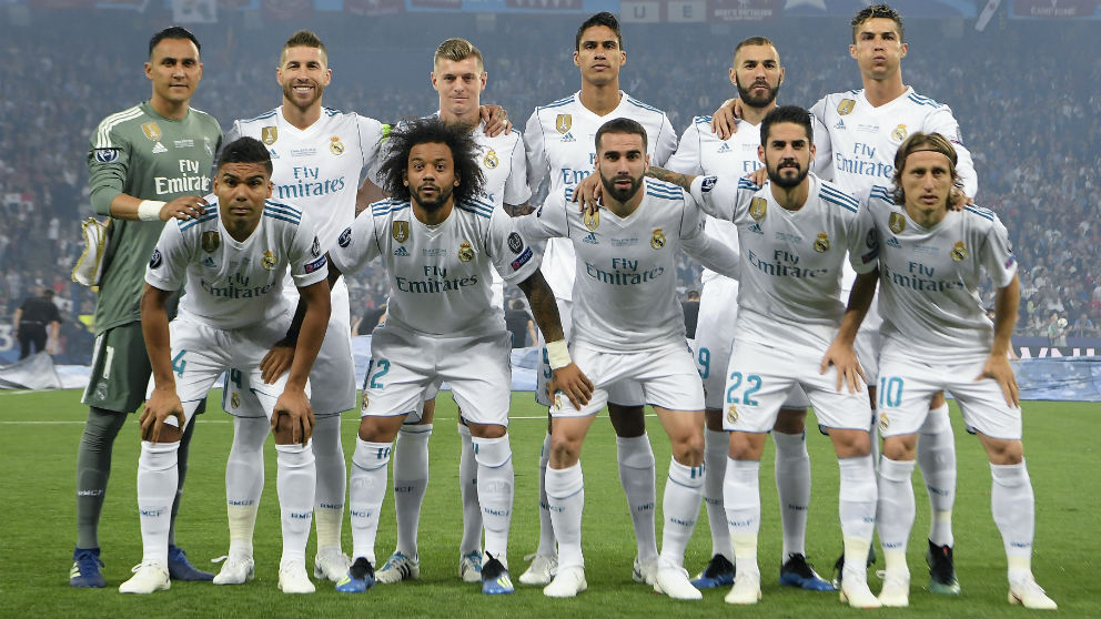 Once inicial del Real Madrid ante el Liverpool. (AFP)