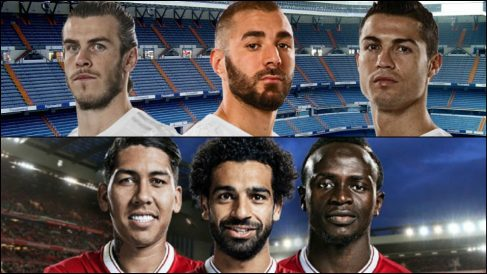 Duelo de tridentes en la final de la Champions League.   Real Madrid – Liverpool   Champions hoy