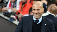Zidane, en un tramo de la final de la Champions. (AFP)