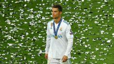 Cristiano Ronaldo, en plena celebración con cara de pocos amigos (AFP).